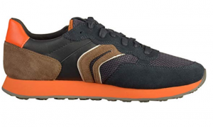 sneakers-barbati-geox-suede-U845VB-02214-C4334 NAVY-CHOCOLATE