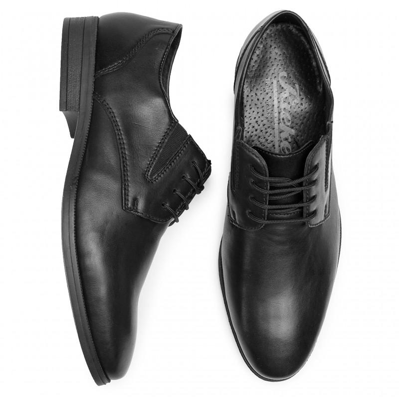vânzare ieftină din Marea Britanie vânzare la cald obține nou Pantofi barbati RIEKER piele naturala 11614-00 NEGRU - Kirus Shoes