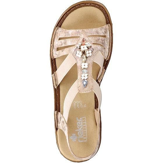 Sandale dama RIEKER piele ecologica 60855 31